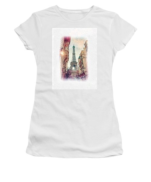 Paris Mon Amour Women's T-Shirt (Athletic Fit)