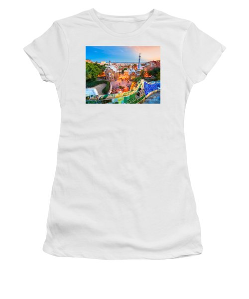 Park Guell In Barcelona - Spain Women's T-Shirt (Athletic Fit)