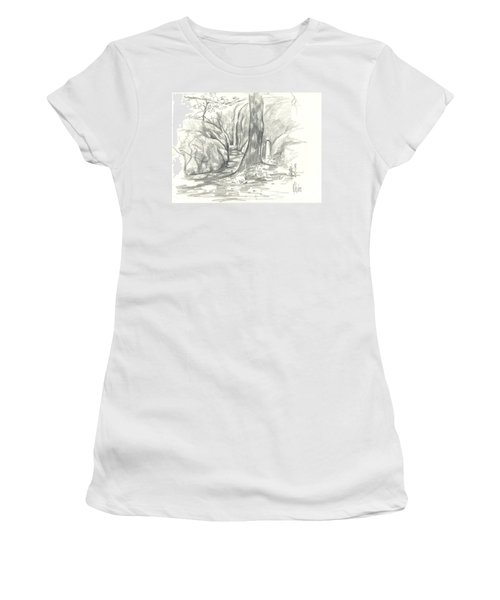 Passageway At Elephant Rocks Women's T-Shirt (Junior Cut) by Kip DeVore