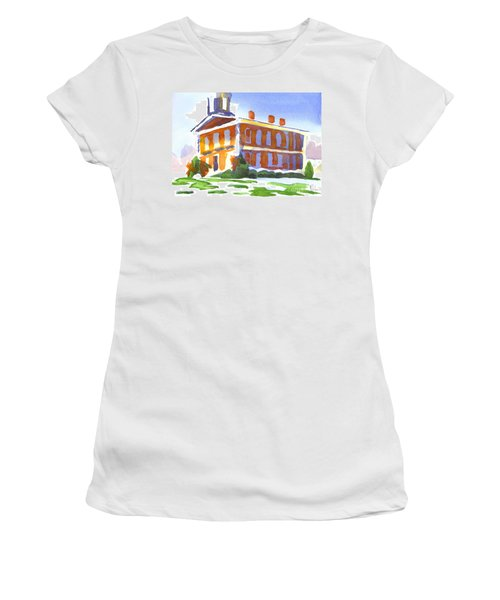Patches Of Snow Women's T-Shirt