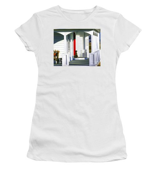 Patience Women's T-Shirt (Junior Cut) by Steven Reed