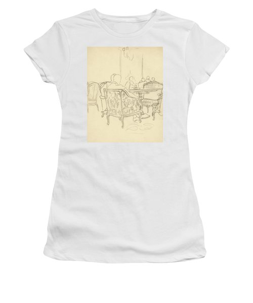 Patterned Chairs At A Restaurant Women's T-Shirt