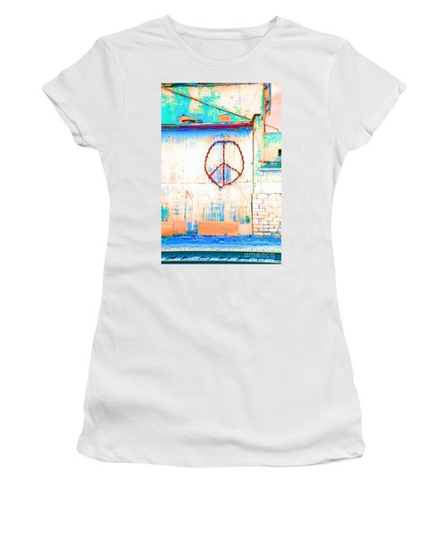 Peace 1 Women's T-Shirt (Junior Cut) by Minnie Lippiatt