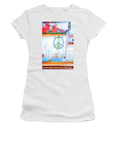 Peace 3 Women's T-Shirt (Athletic Fit)