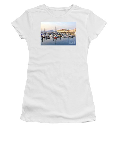 Women's T-Shirt (Junior Cut) featuring the photograph Peaceful Marina by Kate Brown