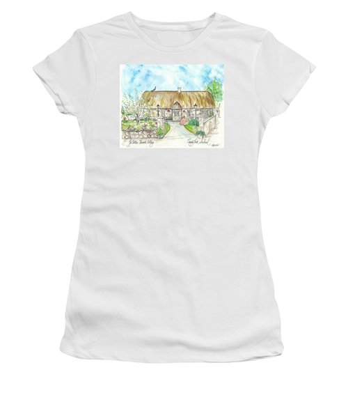 House Portrait Peacock Cottage Kanturk County Cork Ireland Women's T-Shirt