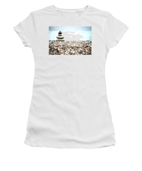 Pebble Stone On Beach Women's T-Shirt