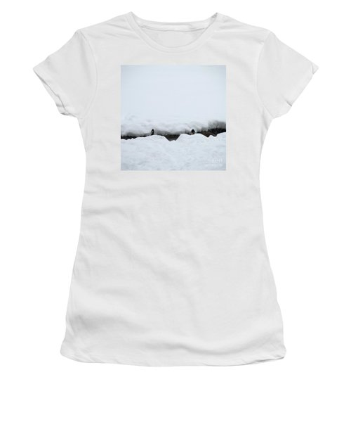 Peek-a-boo Women's T-Shirt (Athletic Fit)