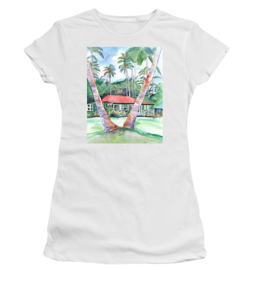 Peeking Between The Palm Trees 2 Women's T-Shirt (Athletic Fit)
