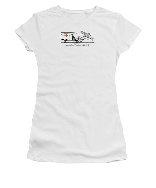 Pegasus At Work For The Allies Women's T-Shirt (Junior Cut) by War Is Hell Store