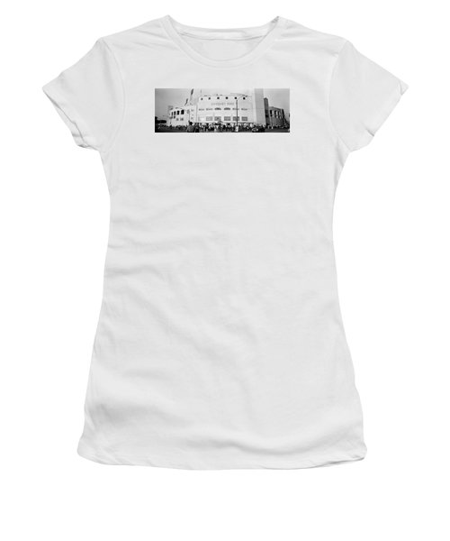 People Outside A Baseball Park, Old Women's T-Shirt (Athletic Fit)
