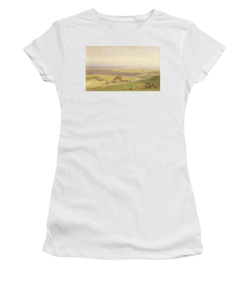 Pevensey Bay, Sussex, 1868 Wc, Bc, Graphite And Scraping On Paper Women's T-Shirt