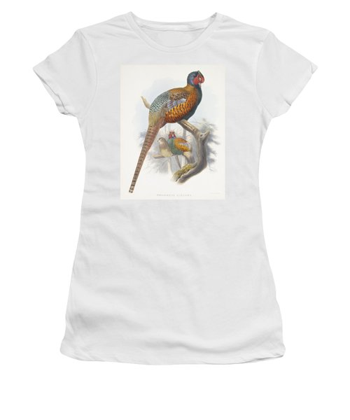 Phasianus Elegans Elegant Pheasant Women's T-Shirt (Junior Cut) by Daniel Girard Elliot