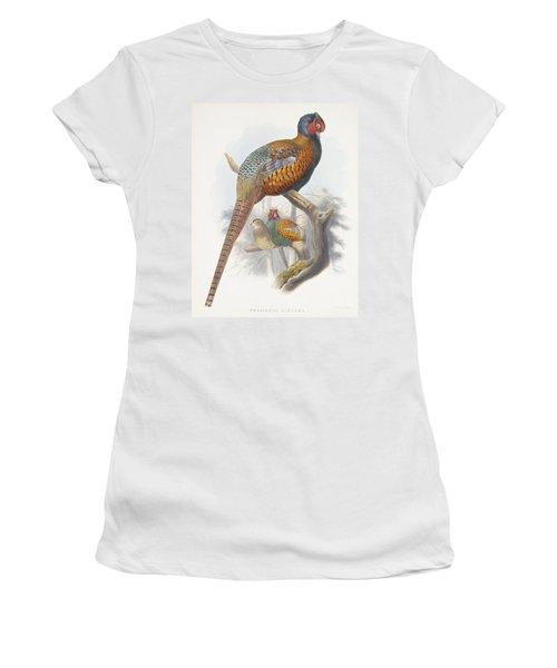Phasianus Elegans Elegant Pheasant Women's T-Shirt (Athletic Fit)