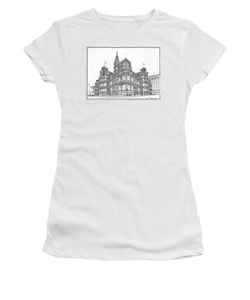 Philadelphia City Hall 1911 Women's T-Shirt (Athletic Fit)
