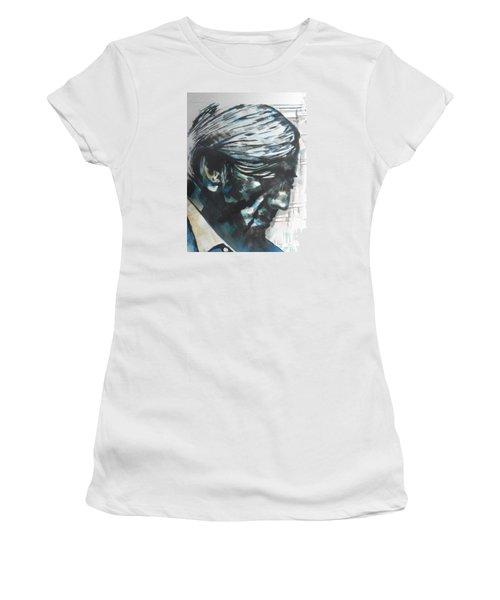 Philospher Jiddu Krishnamurti Women's T-Shirt (Junior Cut) by Chrisann Ellis