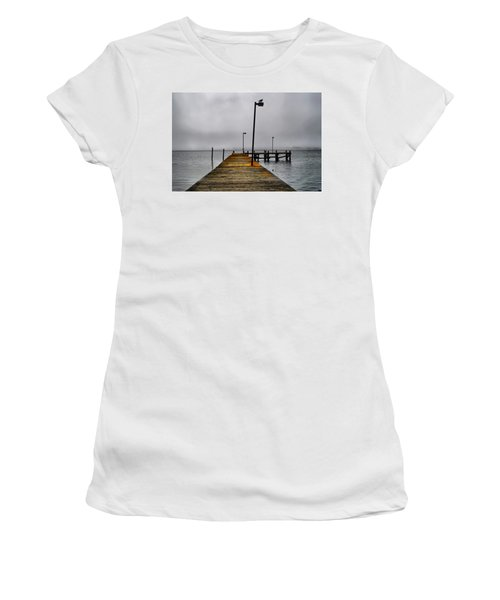 Pier Into The Fog Women's T-Shirt (Athletic Fit)