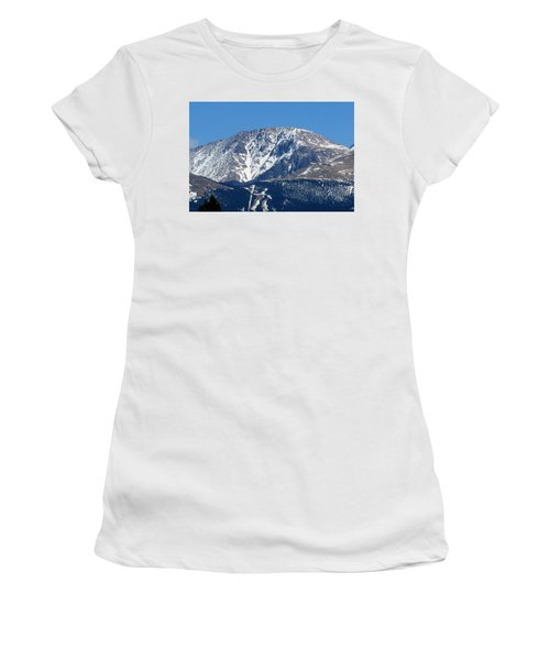 Pikes Peak Close-up Women's T-Shirt (Athletic Fit)