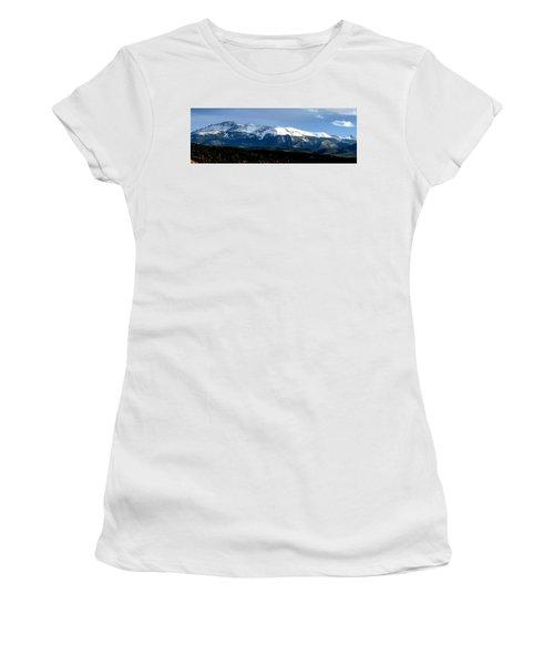 Pikes Peak Panorama Women's T-Shirt (Athletic Fit)