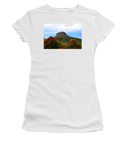 Pilot Mountain From 52 Women's T-Shirt (Athletic Fit)