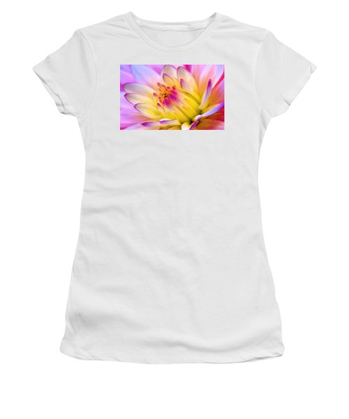 Pink And White Water Lily Women's T-Shirt