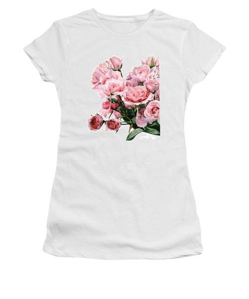 Pink Rose Bouquet Women's T-Shirt