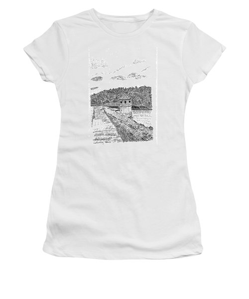 Pittsburg Dam Women's T-Shirt (Athletic Fit)