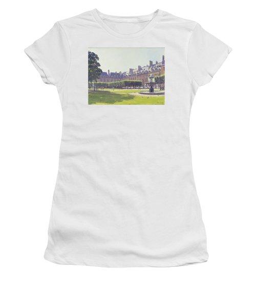 Place Des Vosges, Paris Oil On Canvas Women's T-Shirt