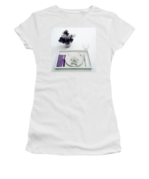 Place Setting With With Flowers Women's T-Shirt