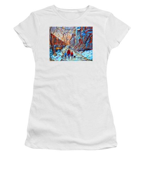 Plateau Montreal Street Scene Women's T-Shirt