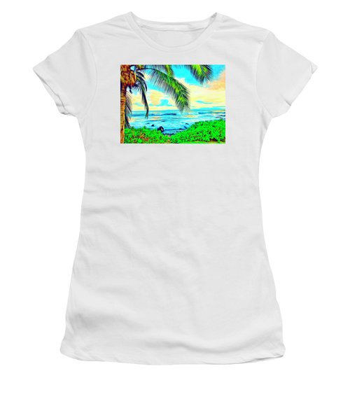 Poipu Sunrise Women's T-Shirt (Athletic Fit)