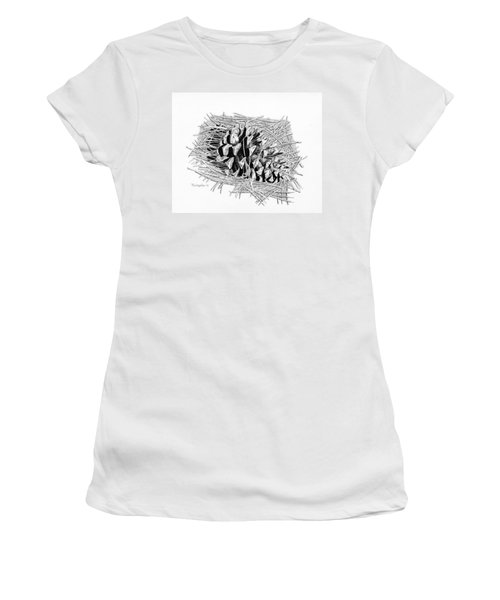 Ponderosa Pine Cone Women's T-Shirt (Athletic Fit)
