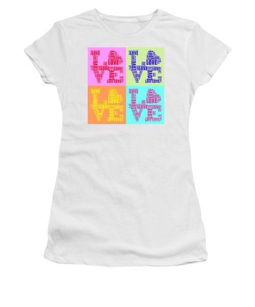 Pop Love Collage Women's T-Shirt