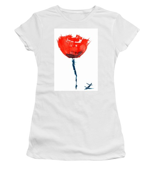 Poppy Women's T-Shirt (Junior Cut) by Zaira Dzhaubaeva