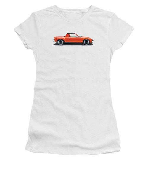 Porsche 914-6 Gt Women's T-Shirt (Junior Cut) by Alain Jamar