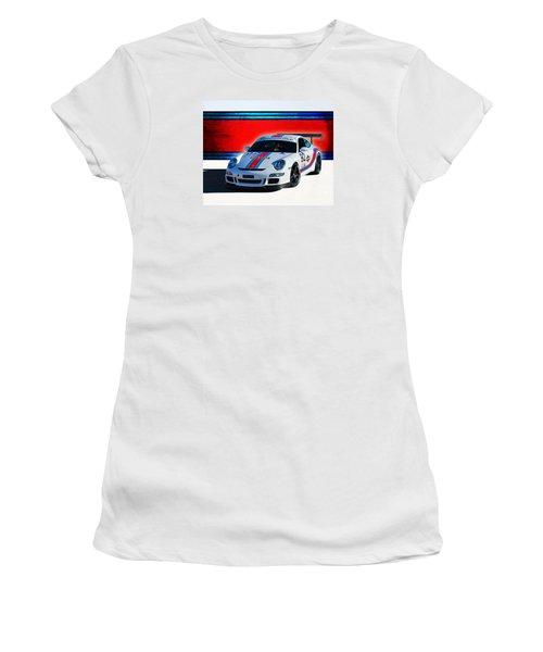 Porsche Gt3 Martini Women's T-Shirt (Athletic Fit)