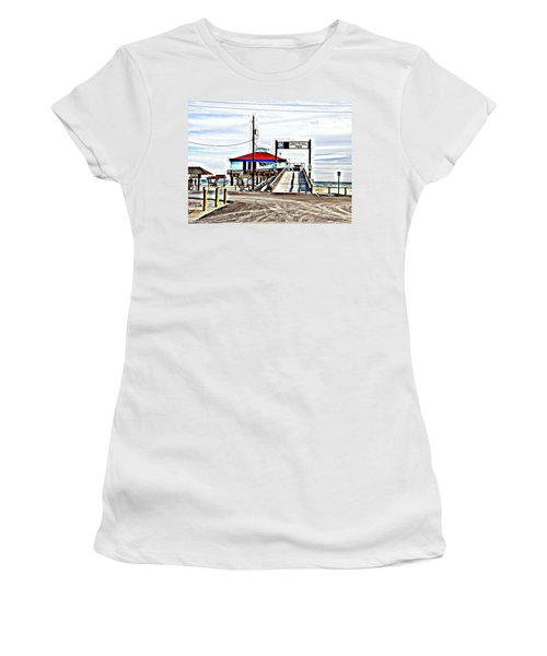 Women's T-Shirt (Junior Cut) featuring the photograph Port Aransas Gulf Side by Antonia Citrino