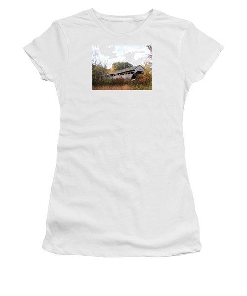 Porter Covered Bridge Women's T-Shirt (Junior Cut) by Catherine Gagne