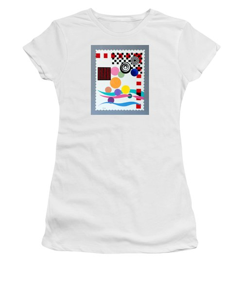 Postage Paid Women's T-Shirt (Junior Cut) by Thomas Gronowski