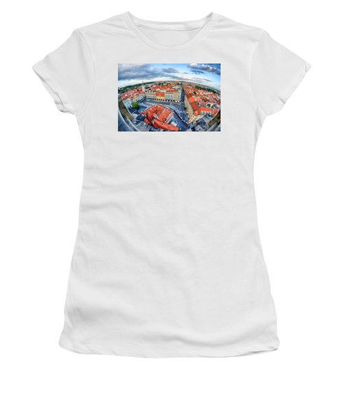 Prague From Above Women's T-Shirt (Athletic Fit)