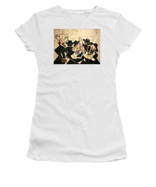 Praying Rabbis Women's T-Shirt