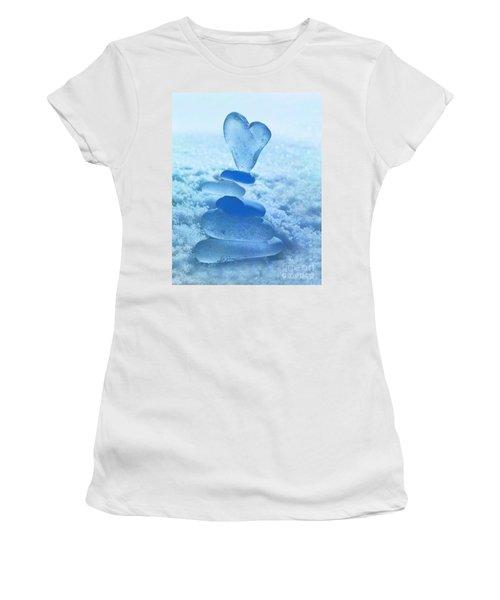 Precarious Heart Women's T-Shirt (Athletic Fit)
