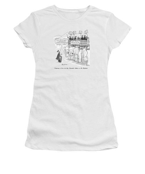 Preparing To Cross The Alps: Hannibal's Address Women's T-Shirt
