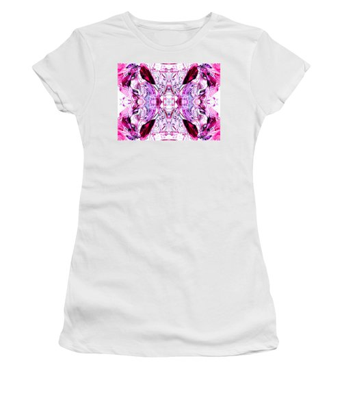 Pretty Pink Weeds Abstract  4 Women's T-Shirt (Athletic Fit)
