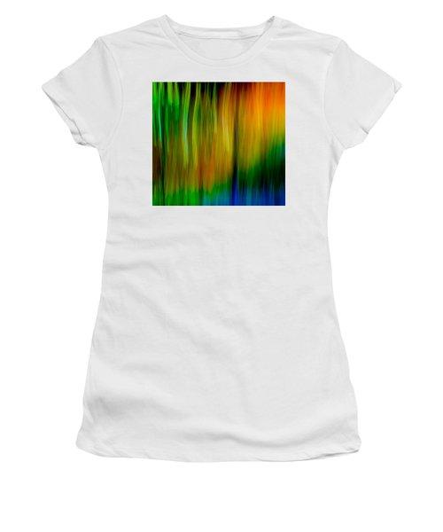 Primary Rainbow Women's T-Shirt (Junior Cut) by Darryl Dalton
