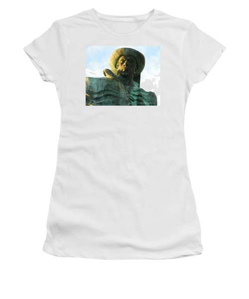 Women's T-Shirt (Junior Cut) featuring the photograph Prince Henry The Navigator by Kathy Barney