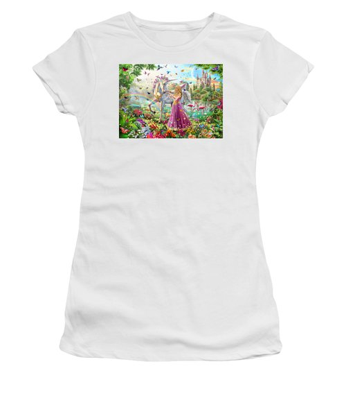 Princess And The Unicorn Women's T-Shirt