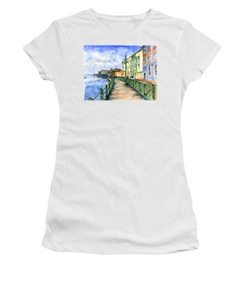 Promenade In Barbados Women's T-Shirt (Junior Cut) by John D Benson