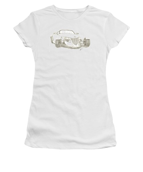 Prowler Sketch Women's T-Shirt (Athletic Fit)