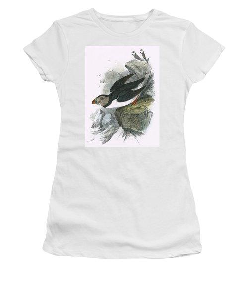 Puffin Women's T-Shirt (Junior Cut) by English School